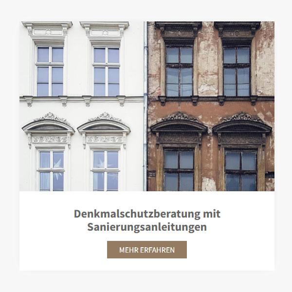 Denkmalschutzberatung Sanierungsanleitungen