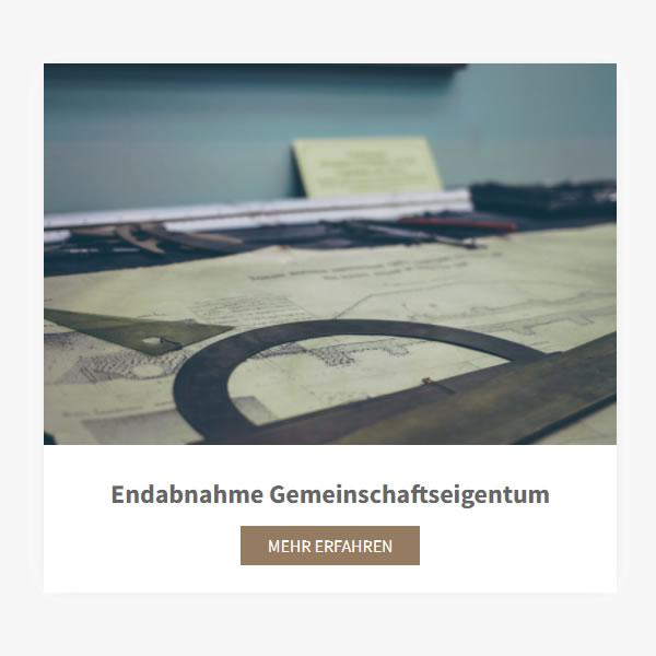Endabnahme Gemeinschaftseigentum aus  Unterhaching